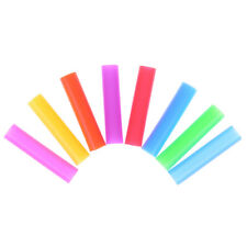 8pcs/set Silicone Tips Cover Food Grade Cover for 6mm Stainless Steel Straws NI
