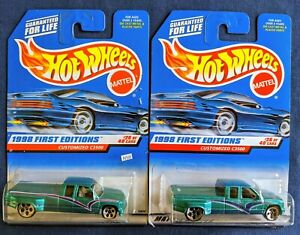 N50 Hot Wheels 1998 First Editions (2) Customized Chevy C3500  Variation