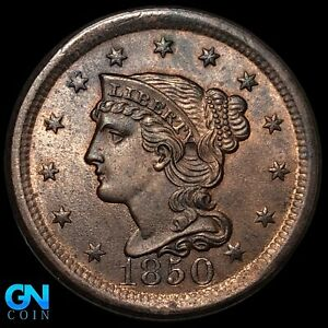 1850 Braided Hair Large Cent --  MAKE US AN OFFER!  #K8616