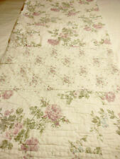 SIMPLY SHABBY CHIC QUEEN 88-100 QUEELT REVERSIBLE PATCHWORK PURPLE PINK ROSES