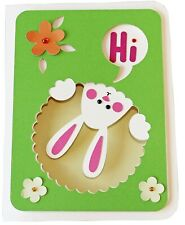 Cute Bunny Happy Easter Card Hand Made With Envelope