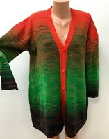 M MISSONI size S / M / L 84%WOOL Knitted Loose Fit Cardigan Multicoloured LOGO