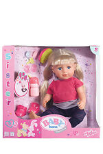 NEW Baby Born Interactive Sister Doll
