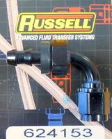 Russell 610161 Endura Anodized Aluminum 6AN 90-Degree Hose End