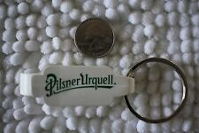 Pilsner Urquell Beer White Bottle Opener Keychain Key Ring #24329