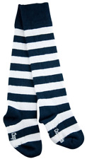 Pork Chop Kids Baby Legwarmers Knee High Socks Navy/Grey Stripe Sz 1-2 Yr