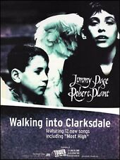 Led Zeppelin Jimmy Page Robert Plant 1998 Walking into Clarksdale 8 x 11 ad