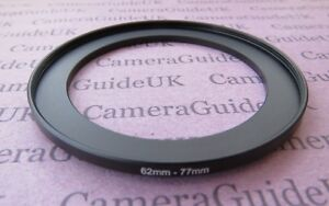 62mm to 77mm Male-Female Stepping Step Up Filter Ring Adapter 62mm-77mm