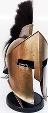 Armour Medieval KING LEONIDAS GREEK SPARTAN 300 Roman Helmet on Wooden Stand