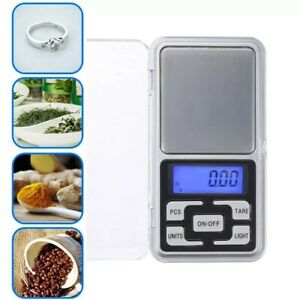 mini BILANCIA di Precisione DIGITALE DA 0,10 GRAMMI A 200 gr. DISPLAY LCD Tascab