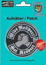 """GIVE RESPE GET RESPECT -  Patch Aufnäher """"hochwertig gestickt"""" Biker"""