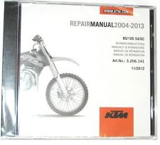 NEW KTM OEM REPAIR MANUAL DISK DVD CD KTM 85 105 SX  2004-2014 3206166