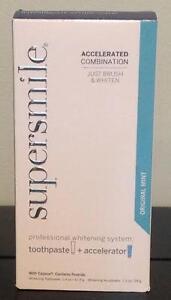 NEW FRESH SuperSmile Teeth Whitening Toothpaste & Accelerator Kit