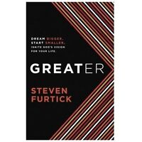 GREATER Steven Furtick Christian Hardcover book FREE SHIP Ignite God's Vision!