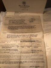 Military Paperwork From Veterans Estate USS Forestal CVA-59