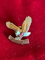 Victoria British Columbia BC Attacking Prey Eagle Cloisonné Tie Lapel Pin 1.25""