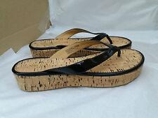 NINE WEST Black Goldfish Flat Sandal Wedge SHOES UK8 EU41 US10 NEW RRP £56