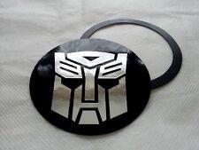 Disco De Impuestos Titular de permiso de aparcamiento & Magnético Autobots Transformers Efecto Cromo