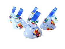 Pee Pee Teepee x6 / Wee Stop Cones Teepees / Boy Baby Shower / Blue Trains Choo