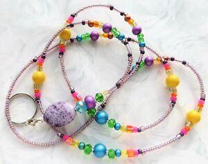 SPRING AGATE- Beaded Lanyard ID Badge Holder- Teacher/Boss Gift, Wife Gift