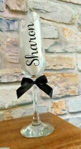Personalised Hen Party Birthday Rose Gold Champagne Prosecco Flute Glass