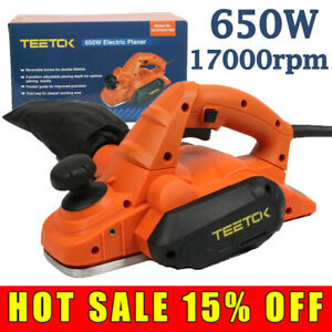 650W Electric Wood Planer Hand Held Woodworking Powerful For Home Furniture