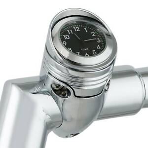 "Chrome 1 1/4"" Motorcycle Handlebar Clock Mount Fit For Harley Chopper Custom"