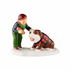 Dept 56 Snow Village - DOG FOR THE DOG - New 2016 FREE SHIPPING