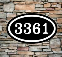 Wooden house numbers 5 to 7. custom house numbers Arial rounded