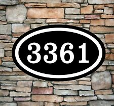 "Personalized Home Address Sign Aluminum 12"" x 7"" Custom House Number Plaque OV4"