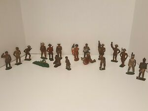 Lot 18 Lead Soldiers Barclay Manoil WW1 Army Figures