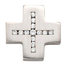Natürliche Echtschmuck-Halsketten & -Anhänger mit Diamant-Kreuz-Motiv