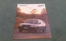 1980 VOLVO 340 343 345 UK BROCHURE Speeds Of Alfreton Stamp