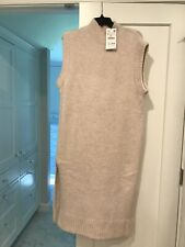 Zara Oversized Sleeveless Sweater Dress With Vents XS