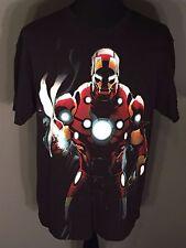Iron Man Tony Stark Marvel Super Hero Mens Size XL Black Short Sleeve T-shirt