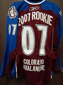 Colorado Avalanche 2007 NHL Rookie Draft Reebok Authentic Jersey Size 54