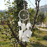 White Handmade Dream Catcher Net With feathers Hanging Decoration Craft Gift New
