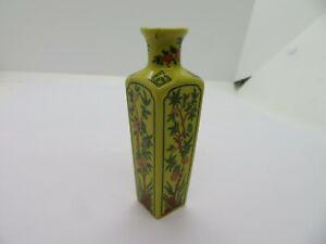 Vintage Chinese Rose Bud Vase 8.5cms high  Decorative Vase
