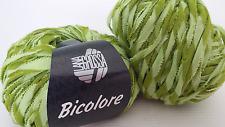800 g Bicolore Lana Grossa Fb 010 grün  55 % Polyamid 45 % Baumwolle