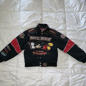 Vintage Rare DAYTONA DISNEH RACING ACROSS America Mickey Mouse Jacket JH DESIGN