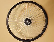 "20"" BMX Alloy / Alloy Black Rear Wheel 68 Spokes RIm Silver Spokes Black Hub"