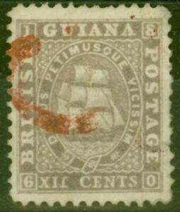 British Guiana 1860 5d in Red on 12c Lilac Postage Payable to Great Brtain Fo...