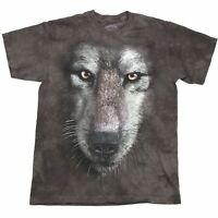 THE MOUNTAIN WOLF ALL OVER PRINT TYE DYE NATURE HABITAT WILDERNESS T SHIRT S