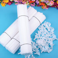 5 Pcs White Balloon Sticks Holders with Cups for Wedding Party Decor Ho TCR
