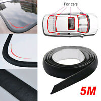 5M Waterproof Rubber Seal Weather Strip Trim For SUV Car Front Rear Windshield