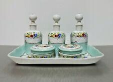 Nécessaire de toilette porcelaine polychrome de Paris art Français / French art