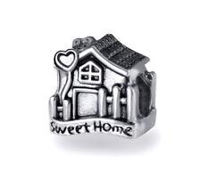 Home Sweet Home European Beads, House Charms, Fits European Charm Bracelets
