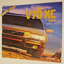 VOLVO V70 XC AWD 1998 catalogue Brochure adversing dépliant Prospekt