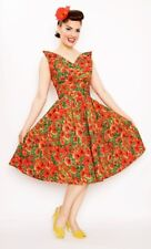 "Bernie Dexter poppy print A line dress brand new size 1X 34"" waist rockabilly"