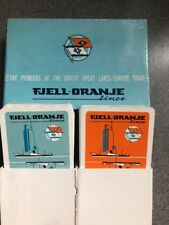 vintage twin FJELL-ORANJE LINE Dutch playing cards UNPLAYED cards VGC c1950s